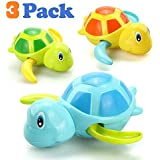 VCOSTORE Wind Up Bath Toys for Toddlers, Cute Swimming Turtle Baby Bathtub Floating Water Bathing Fun Toys Bathroom Toy Water