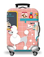 スーツケースカバー 伸縮素材 (M: 22-24インチ, ペット)