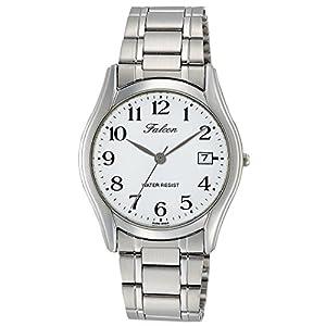 [シチズン キューアンドキュー]CITIZEN Q&Q 腕時計 Falcon ファルコン アナログ ブレスレット 日付 表示 ホワイト D016-204 メンズ