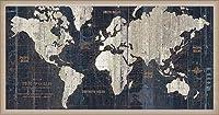 ポスター アーティスト不明 Old World Map Blue 額装品 ウッドベーシックフレーム(オフホワイト)