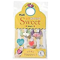 ==まとめ== ・プラス・メクリッコ・Sweet・ハート2L・パールホワイト・ピンク・ローズ・KM-303SA-3・1袋==3個:各色1個== ・-×30セット-