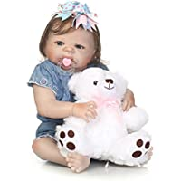 SanyDoll Rebornベビー人形ソフトSilicone 22インチ55 cm磁気Lovely Lifelike Cute Lovely Baby b0763kpp3r