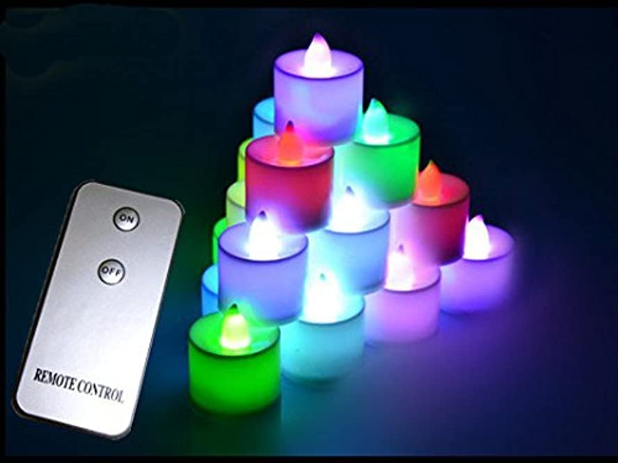 傾く熟達した注文Zehui ウェディングデコレーション LEDキャンドル リモコンキャンドル リモコン付属 グローキャンドル 1個 mhy-0731-jj1128