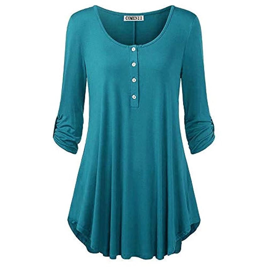 ポケット隠す任命するMIFANトップス&Tシャツ、ゆったりとしたTシャツ、女性用Tシャツ、コットンTシャツ、長袖シャツ、プラスサイズトップ、女性用トップス