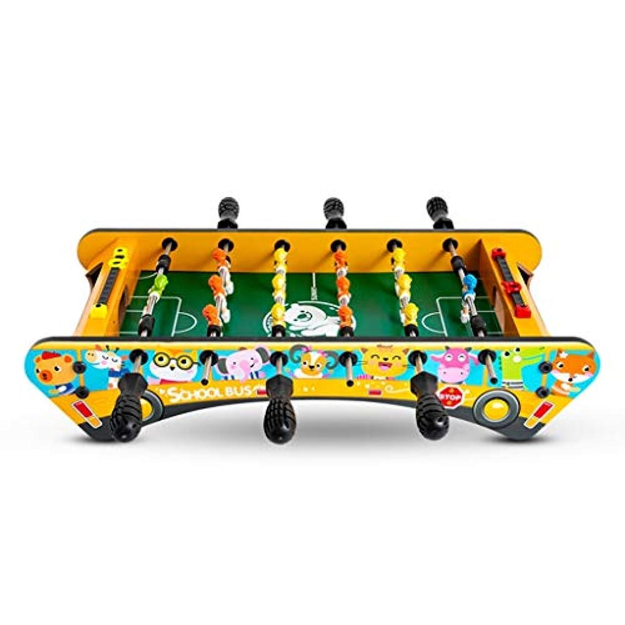 上誇張するジレンマ子供のテーブルサッカー子供のおもちゃ子供の教育玩具3-10歳の子供のおもちゃギフト6席テーブルサッカー機のギフト家族のゲーム機木材 (Color : YELLOW, Size : 61CM)