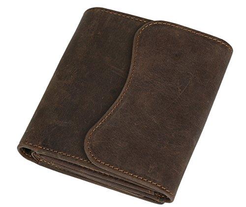 [(チョウギュウ) 潮牛] 本革 レザー メンズ 三つ折り財布 小銭入れ コインケース ブラウン ヌメ革 牛革 ビンテージ風 ウォレット
