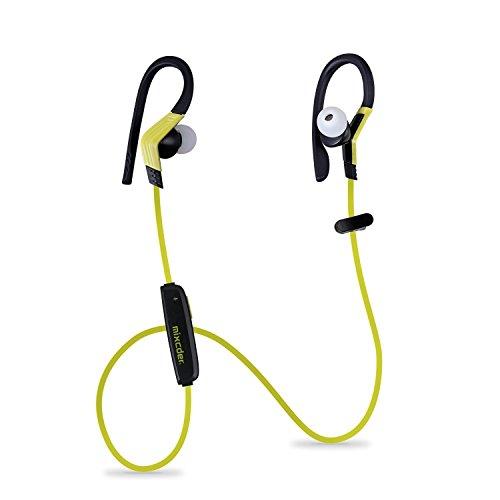 ワイヤレス Bluetooth イヤホン Mixcder ZeroSport スポーツ イヤフォン 高音質 カナル型 マイク内蔵 防汗 防滴 技適認証済 (イエロー・ブラック)