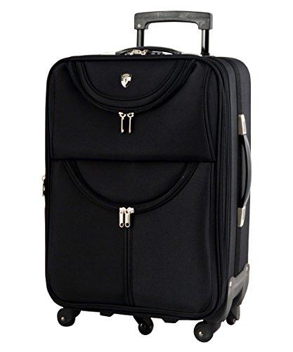 M型 ブラック / newFS1538 ソフト スーツケース キャリーケース TSAロック搭載 超軽量(3~5日用)