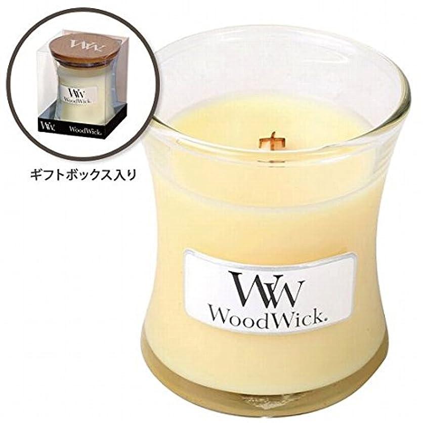 したがって固めるウェブウッドウィック( WoodWick ) Wood WickジャーS 「レモングラス&リリー」