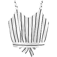 RJDJ Tank Tops, Women's Self Tie Back V Neck Crop Cami Top Camisole