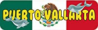10 in x 3 in Puerto VallartaバンパーステッカービニールMexican Flag車ステッカーby StickerTalk