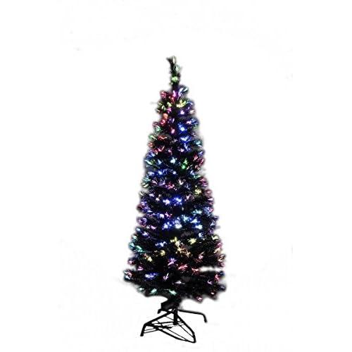 Xmas LEDファイバークリスマスツリー 高さ120cm ブラック