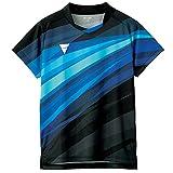 ヴィクタス(VICTAS) 卓球 ゲームシャツ V-OGS235 吸水速乾 男女兼用 ブラック(1000) S 512111 【JTTA公認】