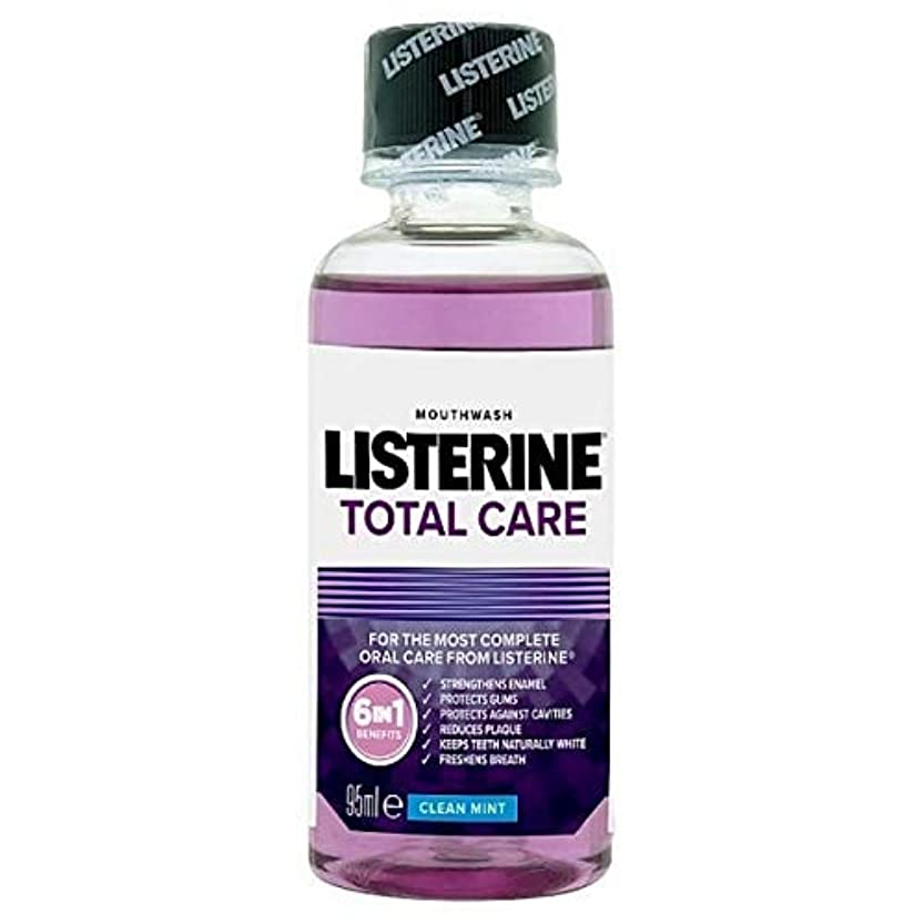 スリッパ支配する服を洗う[Listerine ] リステリントータルケアトラベルマウスウォッシュクリーンミント95ミリリットル - Listerine Total Care Travel Mouthwash Clean Mint 95ml [並行輸入品]