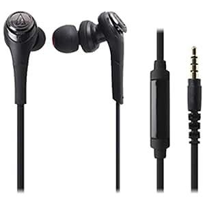 オーディオテクニカ SOLID BASS スマートフォン用インナーイヤーヘッドホン ブラック ATH-CKS550iS BK
