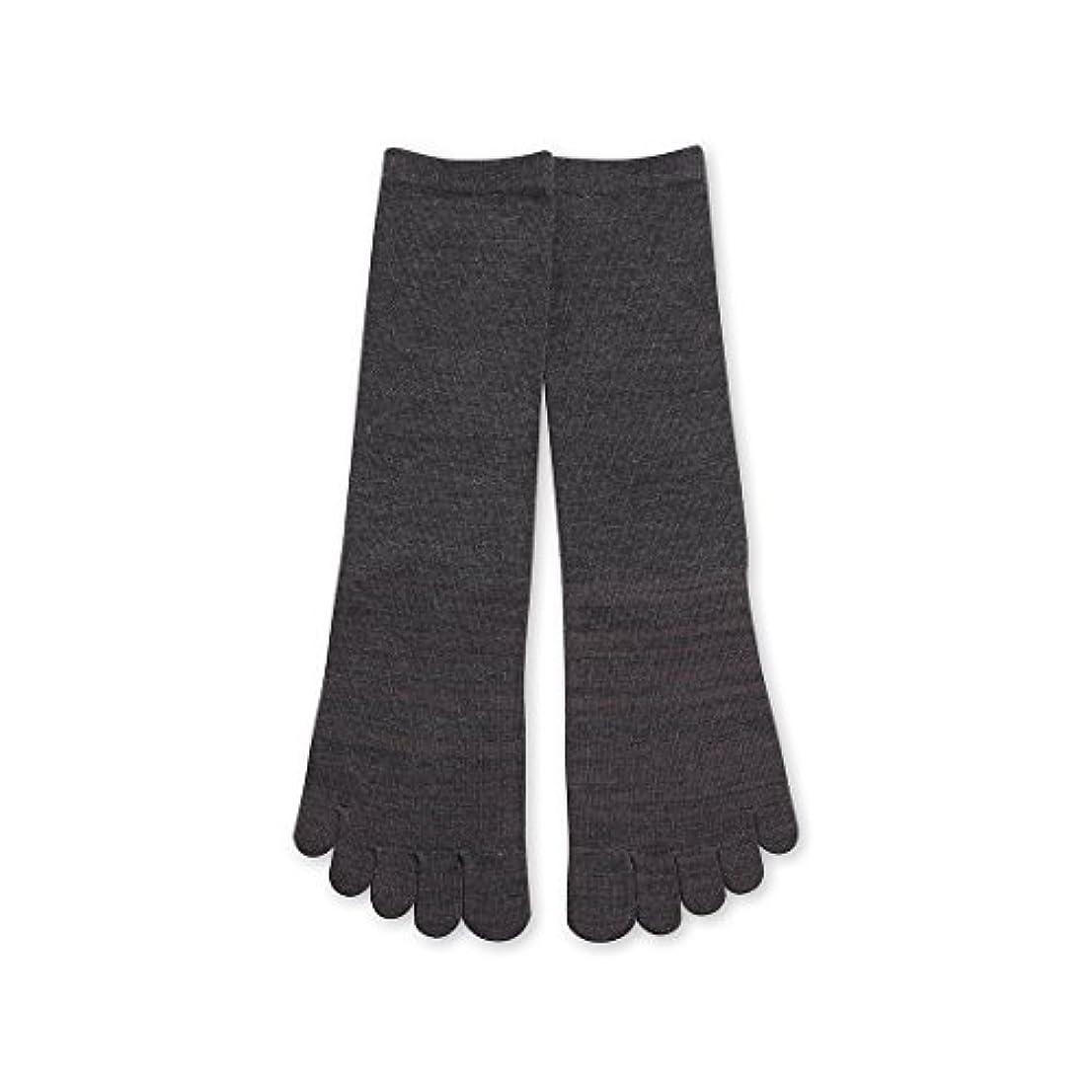 ネクタイ耳スキムDeol(デオル) 5本指 ソックス 男性用 靴下 25~27cm グレー