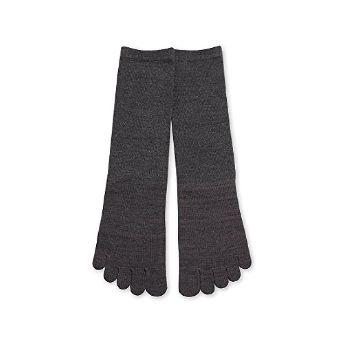 ホーン毛皮最少Deol(デオル) 5本指 ソックス 男性用 靴下 25~27cm グレー