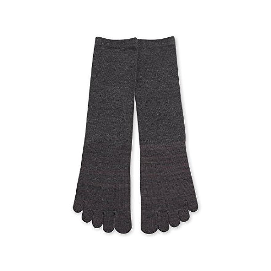 一目オペラアジア人Deol(デオル) 5本指 ソックス 男性用 靴下 25~27cm グレー