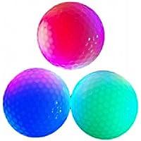 【Rurumi】LED 内蔵 発光 ゴルフ ボール セット ナイターゴルフ 練習に最適