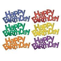 Jumbo Happy Birthday Fanci-Fetti (multi-color) Party Accessory (1 count) (6/Pkg) [並行輸入品]