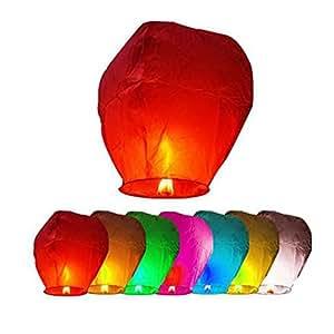 Gespout 熱気球 孔明灯 スカイランタン 熱気球バルーン 諸葛亮 諸葛孔明 願いこと書いて空に飛び放す 人気 三国志 ハンドメイド 10枚セット