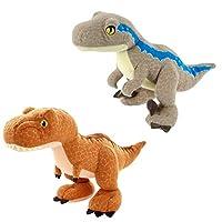 ジュラシックワールド ぬいぐるみ 2個セット ティラノサウルス レックス ヴェロキラプトルブルー