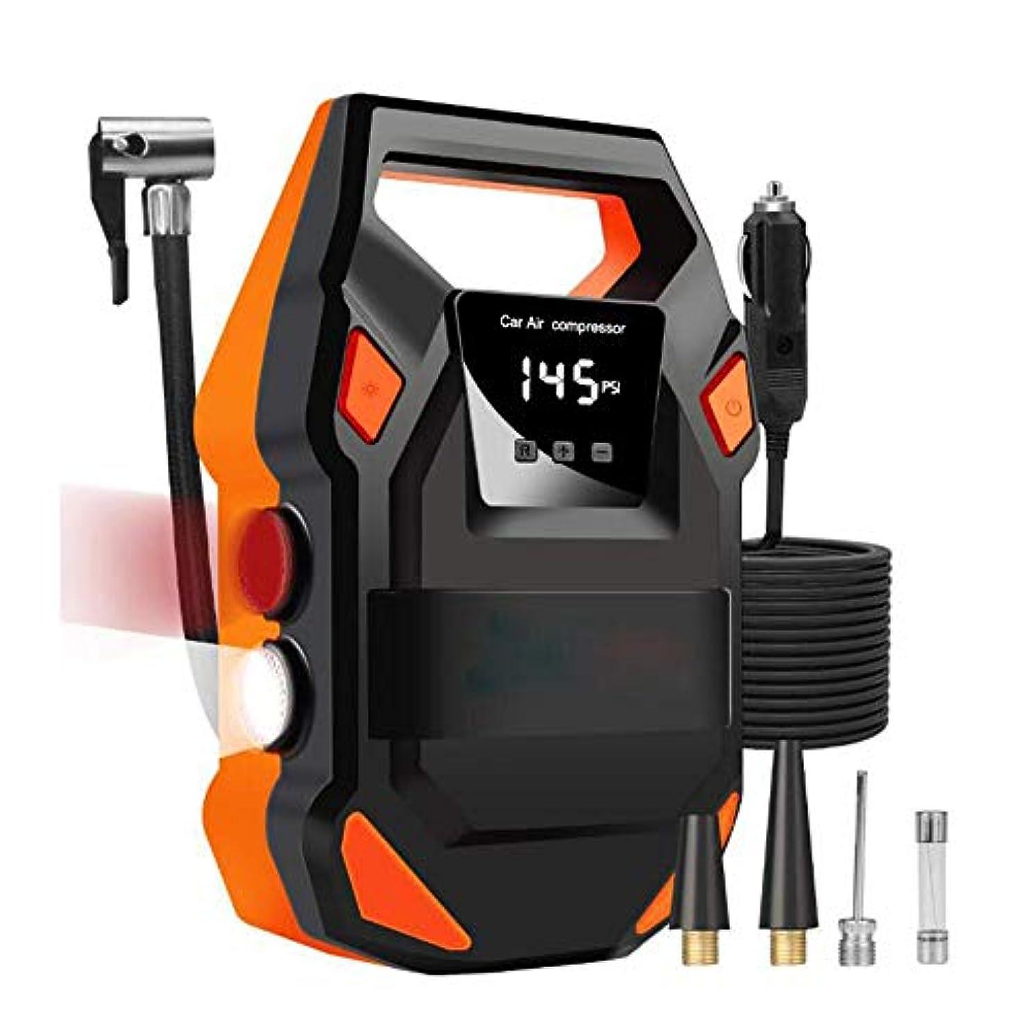 広くネコ黒人150 PSIのHF-DC 12Vデジタルタイヤインフレータ車のポータブルエアーコンプレッサーポンプ車の空気コンプレッサー車用