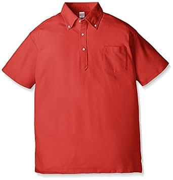(ユナイテッドアスレ)UnitedAthle 5.3オンス ドライカノコ ユーティリティー ポロシャツ(ボタンダウン)(ポケット付) 505101 [メンズ] 069 レッド L