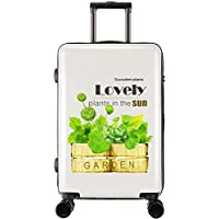 XY Trolley Case - ABS/PC, TSA Custom Code Lock, Frosted Pearlescent Surface, Personality Student Creative Plant Travel Large Capacity Trolley Case - 5 Patterns Optional Luggage Sets
