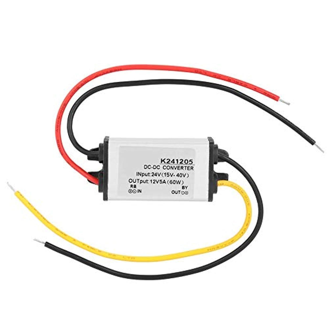 到着する接辞強いAkozon GYVRM-K241205 電源コンバーター DC-DC 24Vから12V 高効率 5A 調整可能なバックコンバーター 電圧レギュレータ USB充電モジュール