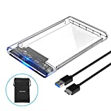 ELUTENG 2.5インチ HDD SSD ケース USB3.0高速 透明 外付けハードディスク ドライブケース UASP対応 SATA USB 変換ボックス Mac Windows PS4 PS3 XBox HDTV等対応