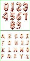 ガーランドアーチキットBollons | 32 16インチ図桁の数字バルーンナンバー箔バルーン結婚式の装飾ハッピーバースデーバルーンベビーシャワーガール、R6-RoseGoldバルーン、Y、16インチ
