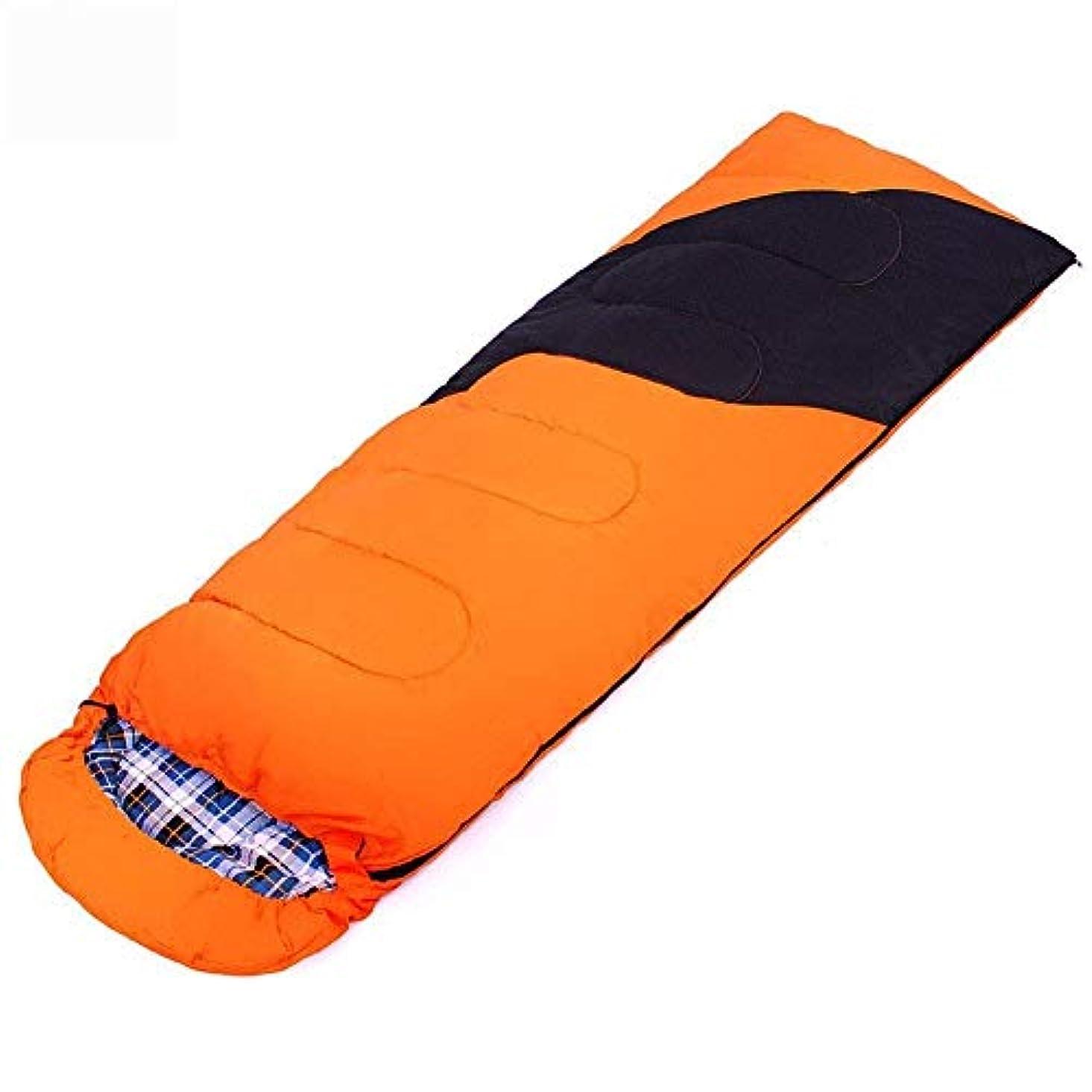 なめらかなハシー毒液大人のコンパクトのキャンプの寝袋単一の軽量防水暖かい睡眠マットハイキングのためのバックパック旅行屋内および屋外の活動青オレンジ(色:オレンジ)