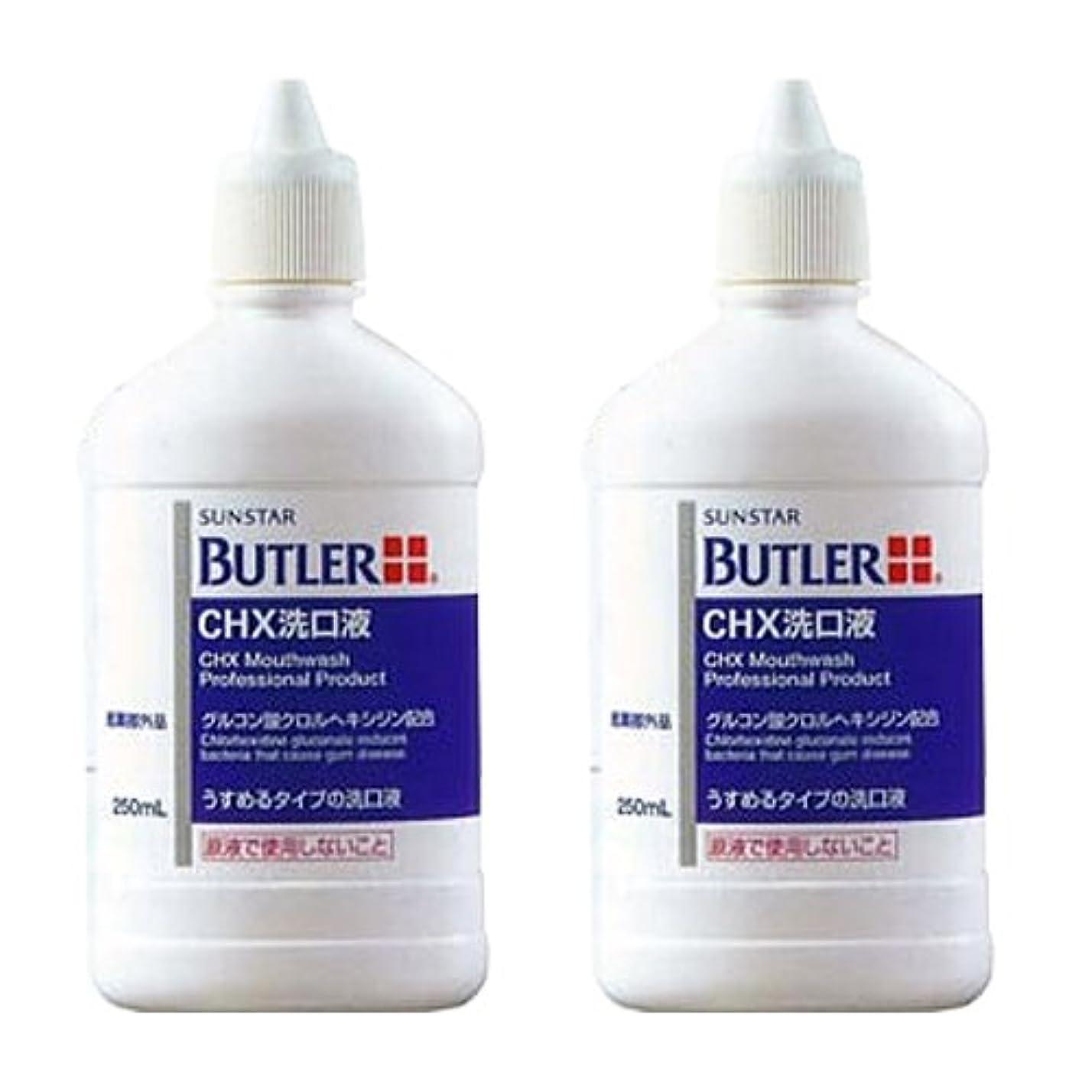 答えダルセット悲惨サンスター バトラー CHX 洗口液 250ml × 2本 医薬部外品