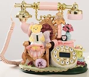 ロマンチックな テディベア Room  姫系 電話機 オシャレな インテリア電話