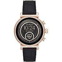 Michael Kors Women's Quartz Michael Kors Smartwatch smart Display and Silicone Strap, MKT5069
