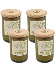 Paddywax EcoグリーンリサイクルガラスCandle、Verbena &レモングラス