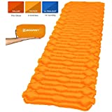 Bessport Camping Sleeping Pad-Mat, (Large, Wide), Ultralight 14.1 OZ Camping Mat Pad for Backpacking, Hiking Air Mattress- Lightweight, Inflatable & Compact Carrying Bag with Repair Kit