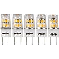 ChiChinLighting G8 LED電球 5個パック クールホワイト 6000K G8口金 LED電球 防塵 IP62 G8 温白色 LED 20ワットハロゲン電球相当 5 Pack シルバー G02C02-3
