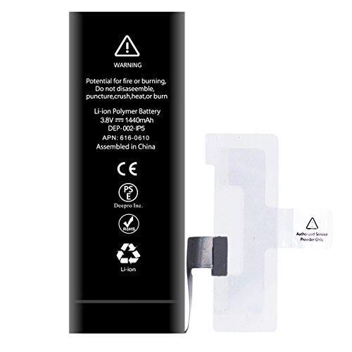 Deepro iPhone5 バッテリー 交換 1440mAh PSE準拠 両面テープ付き