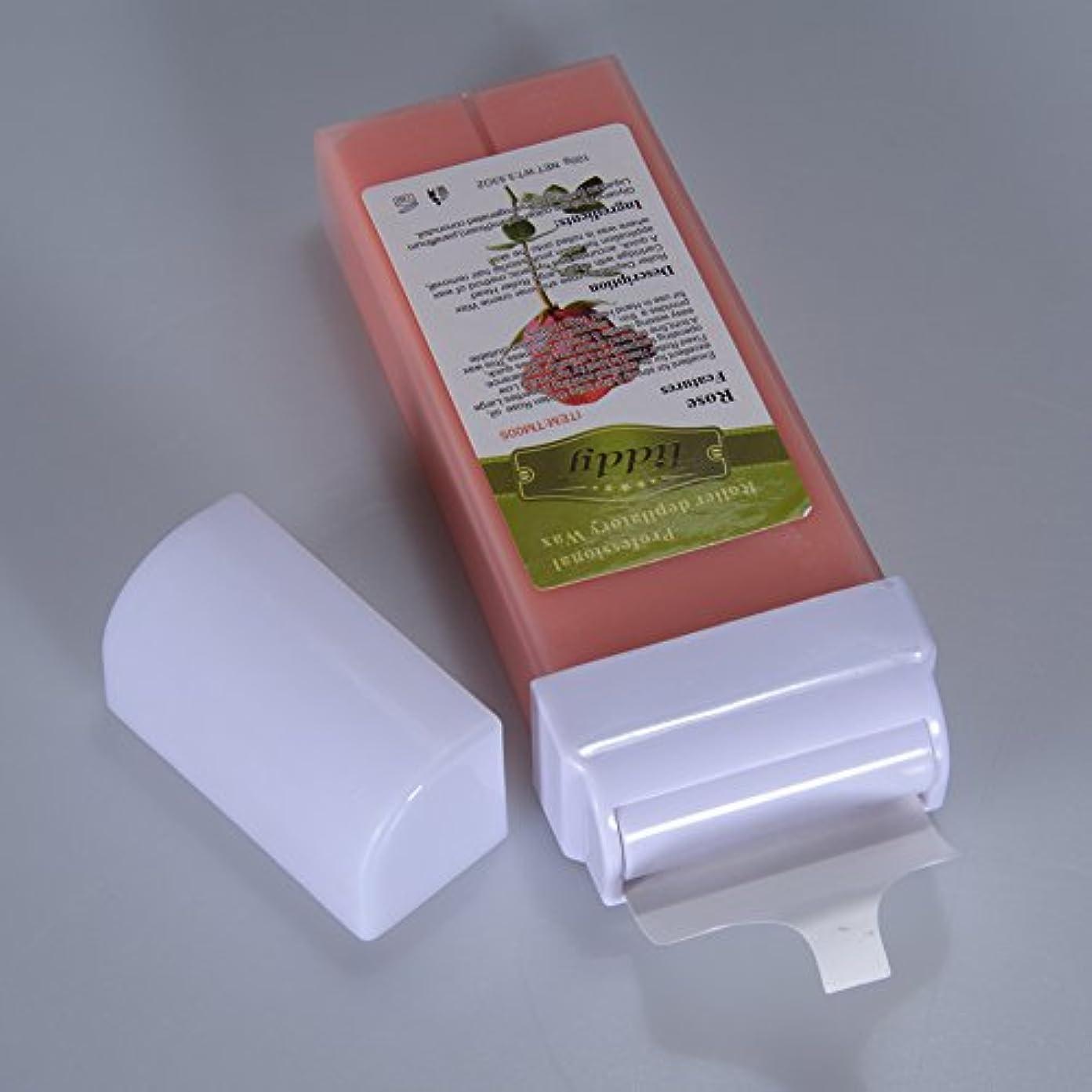ドアミラー触覚知らせるRabugoo 脱毛プロフェッショナル使用水溶性脱毛砂糖ワックスカートリッジワックスグッドスメル - 100g / 3.53oz 100g rose