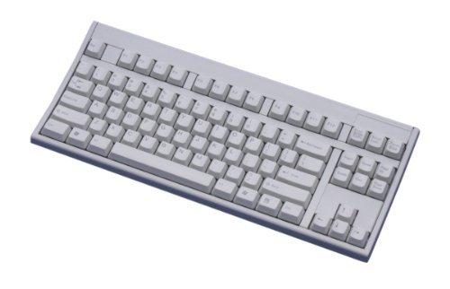 富士通コンポーネント 新カーブド構造(カーブドステップスカルプチャ)テンキーレスキーボード USB・87キーUS配列・ライトグレー FKB8769-511