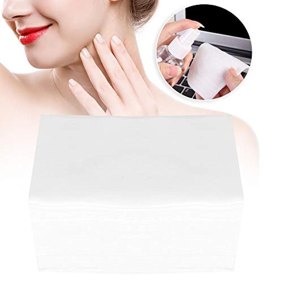 結び目適度な影響する100ピース/ボックスソフトメイク落としコットンパッド化粧品ツールスキンケアクリーニングワイプ