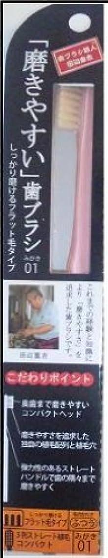 症状保険結婚した磨きやすい歯ブラシ(フラット) 1P*12本入り