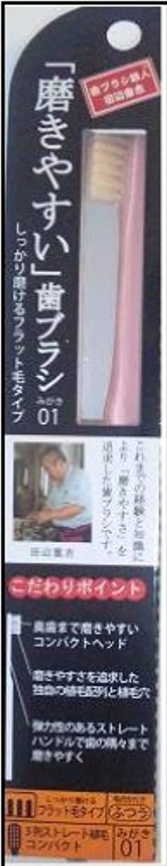干渉名声本物磨きやすい歯ブラシ(フラット) 1P*12本入り