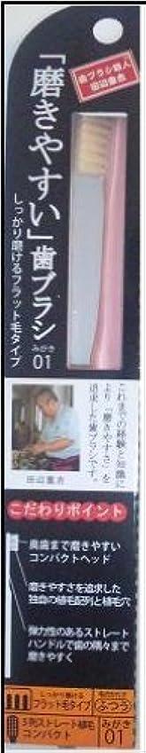 意識受け取る昇進磨きやすい歯ブラシ(フラット) 1P*12本入り