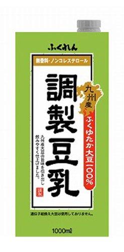 九州産ふくゆたか大豆調製豆乳 1L×6本