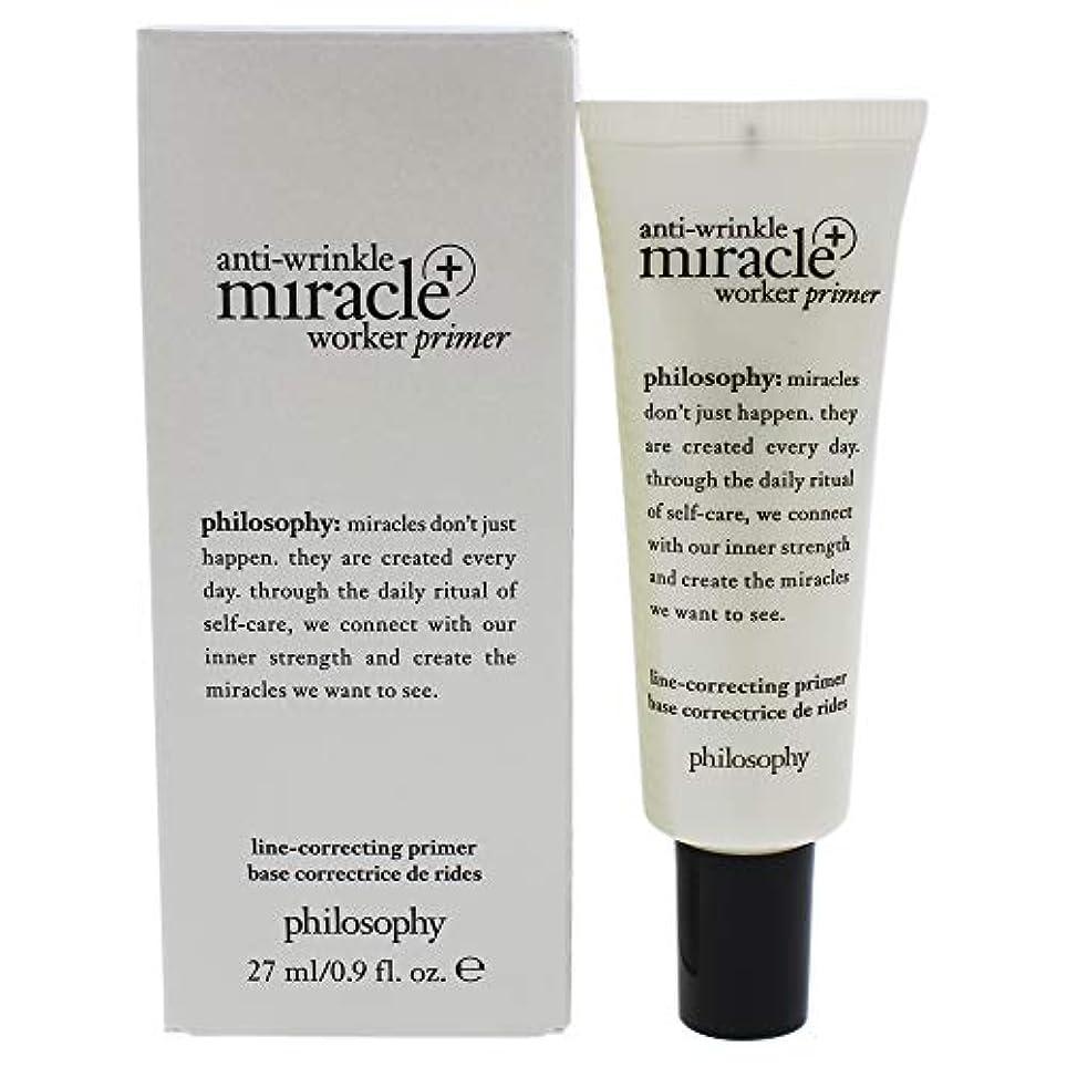 研究放牧する部分的にフィロソフィー Anti-Wrinkle Miracle Worker Primer+ Line-Correcting Primer 27ml/0.9oz並行輸入品