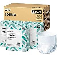 [Amazonブランド]SOLIMO うす型パンツ (大人用紙おむつ) M~Lサイズ 38枚×3個【ADL区分:歩ける方・座れる方に】【ケース販売】