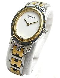 [エルメス]Hermes 腕時計 CO1.220 クリッパー オーバル コンビ 白文字盤 クリーニング済み レディース 中古